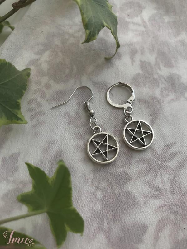 imusau.lt   parduodama rankų darbo auskarai // inverted pentagram earrings